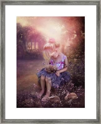 In Fairy Tales Framed Print by Cindy Grundsten