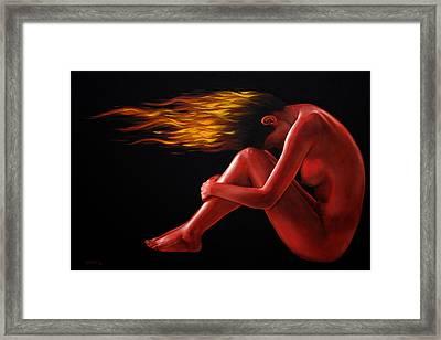 In Flame Framed Print