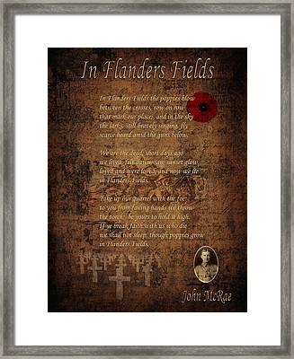 In Flanders Fields 2 Framed Print