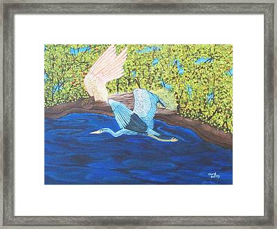 In Flight Framed Print by Cheryl Bailey