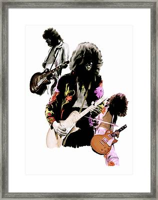 In Flight Iv Jimmy Page  Framed Print by Iconic Images Art Gallery David Pucciarelli