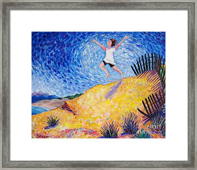 In Flight Framed Print by Peggy Johnson