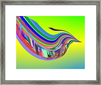 In Flight With Sbux Framed Print