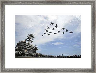In Formation Framed Print by Mountain Dreams
