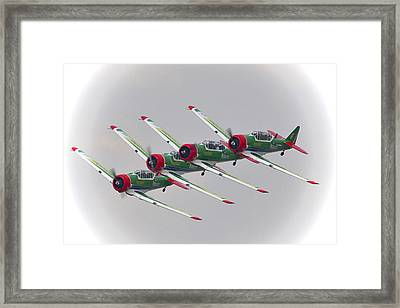 In Formation Framed Print by Paul Job