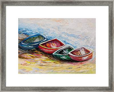 In From The Sea Framed Print by Eloise Schneider