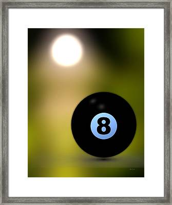 In Front Of The Eight Ball Framed Print by Bob Orsillo