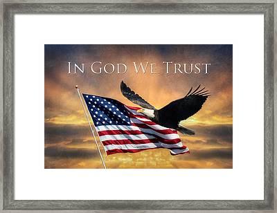 In God We Trust Framed Print by Lori Deiter