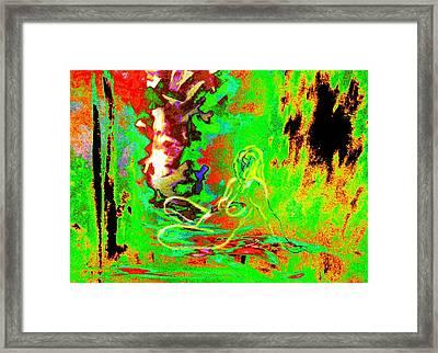 In Green Shelter Framed Print