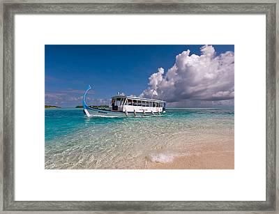 In Harmony With Nature. Maldives Framed Print by Jenny Rainbow