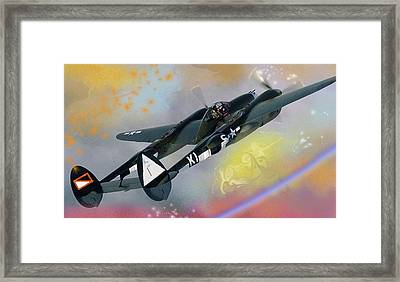In Heaven Where P 38s Still Fly Framed Print