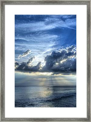 In Heaven's Light - Beach Ocean Art By Sharon Cummings Framed Print by Sharon Cummings