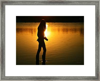In Her Element Framed Print