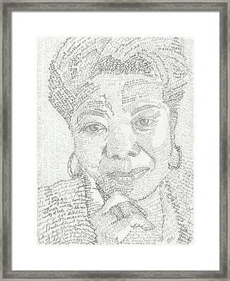 In Her Own Words Maya Angelou Framed Print