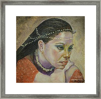 In Her Thoughts Framed Print