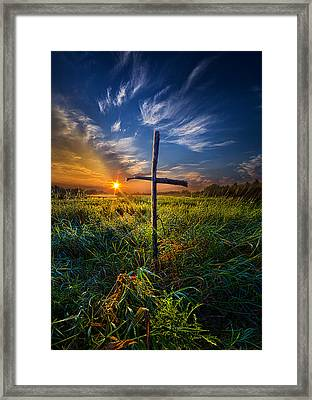 In His Glory Framed Print by Phil Koch