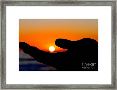 In His Hands By Diana Sainz Framed Print