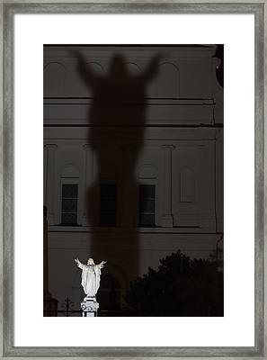 In His Shadow Framed Print