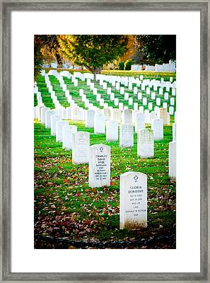 In Honor And Tribute Framed Print by Greg Fortier