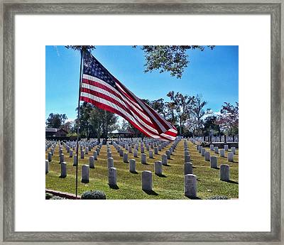 Framed Print featuring the photograph In Honor Of Our Troops by Victor Montgomery
