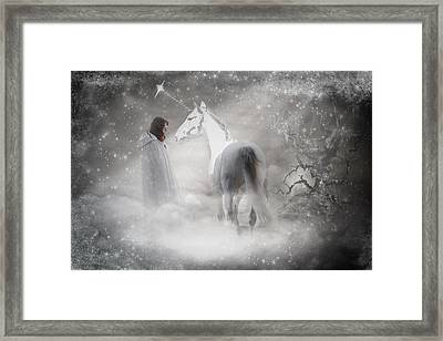 In Honor Of The Unicorn D4079 Framed Print by Wes and Dotty Weber