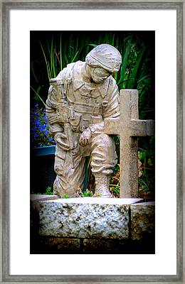 In Honor Of The Wounded Warrior Framed Print