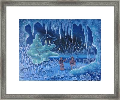 In Icy Depths Framed Print