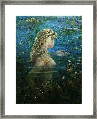 In Lake  Framed Print