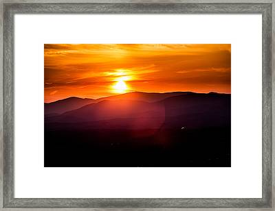 In Lightness Dark Framed Print