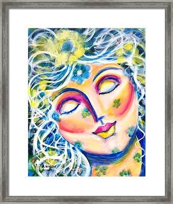 Framed Print featuring the painting In Love by Anya Heller