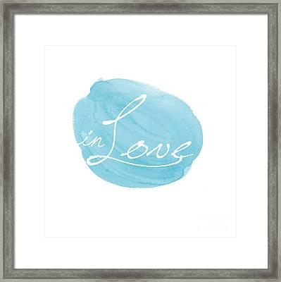 in Love blue Framed Print by Marion De Lauzun