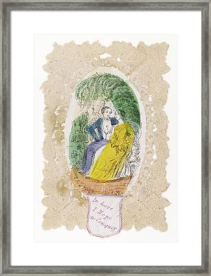 'in Love I Hope To Conquer' A Couple Framed Print by Mary Evans Picture Library