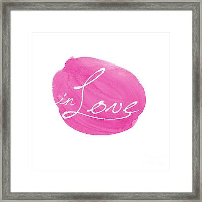 in Love pink Framed Print by Marion De Lauzun