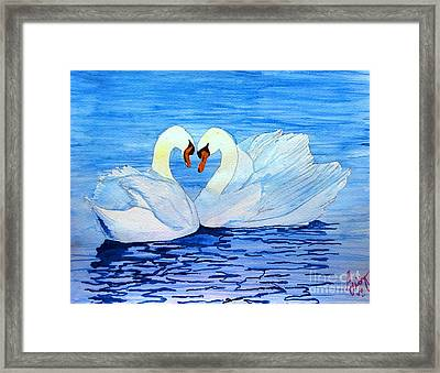 In Love Framed Print by Sarabjit Kaur