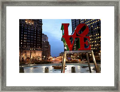 In Love We Trust Framed Print