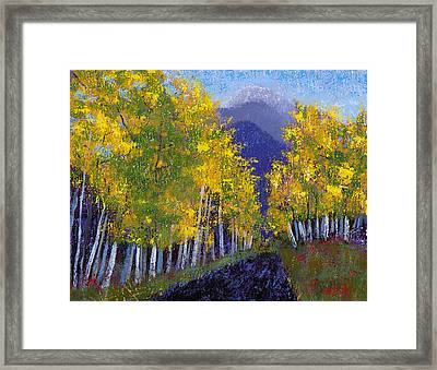 Framed Print featuring the painting In Love With Fall River Road by Margaret Bobb