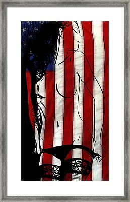 In Love With Her Country Framed Print by Steve K