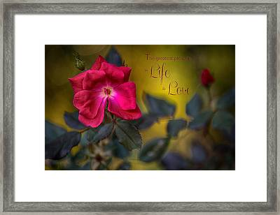 In Love With Message Framed Print