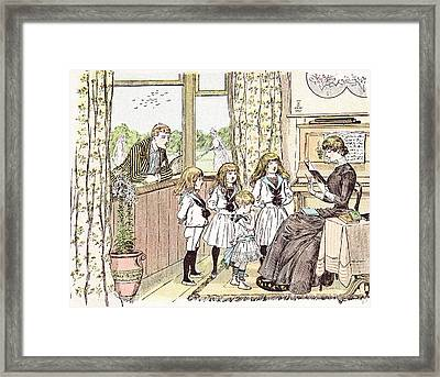 In Love With The Governess In Britain 1892 Framed Print