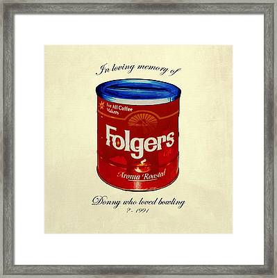 In Loving Memory Of Donny Who Loved Bowling  Variant 1 Framed Print