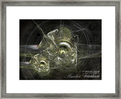 In Memoriam Amelia Earhart Framed Print