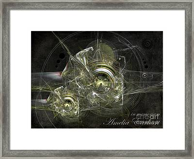 In Memoriam Amelia Earhart Framed Print by Alexa Szlavics