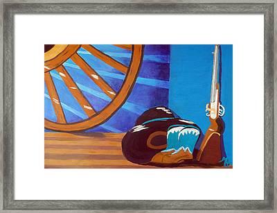 In Memory Of Cowboys Framed Print
