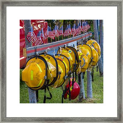 In Memory Of 19 Brave Firefighters  Framed Print