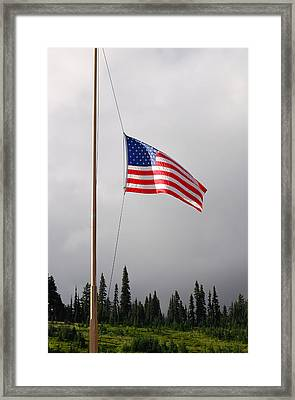 In Memory Of Neil Armstrong. Mt. Rainier National Park. Paradise Washington Framed Print by Connie Fox