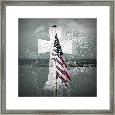 In Memory Of Those Who Died On 9-1-1 Framed Print by Lori Seaman