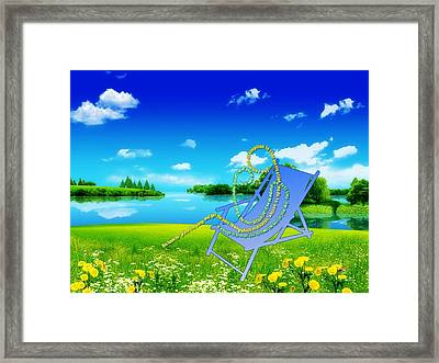 In Mom's Arms Framed Print by Museum Quality Prints -  Trademark Art Designs