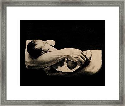 In My Arms Framed Print by Caroline  Reid