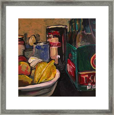 Framed Print featuring the painting In My Fridge by Tilly Strauss