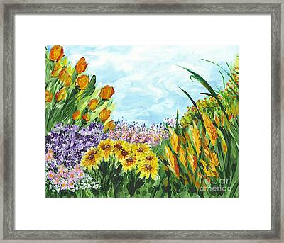 In My Garden Framed Print